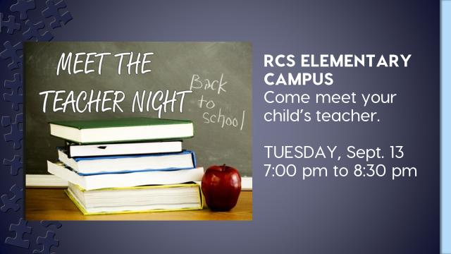Elementary Meet the Teacher Night is Tuesday