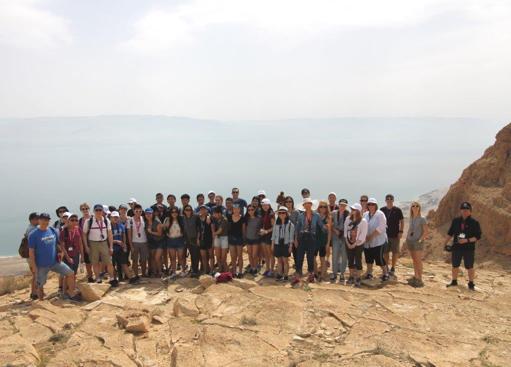 Group shot dead sea cliff place