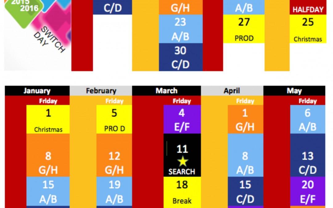 Secondary Friday Block Schedule
